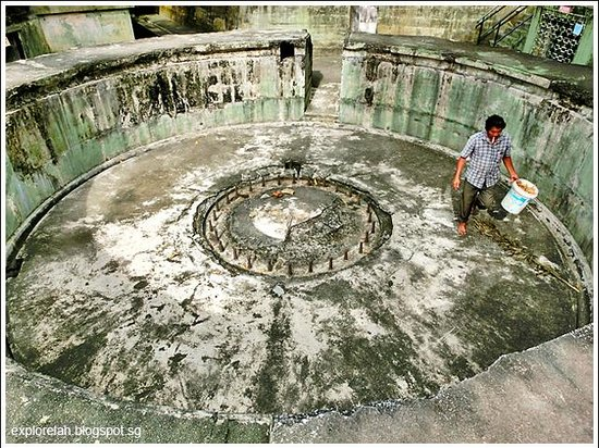 Penang War Museum: Remnants of a gunnery post.