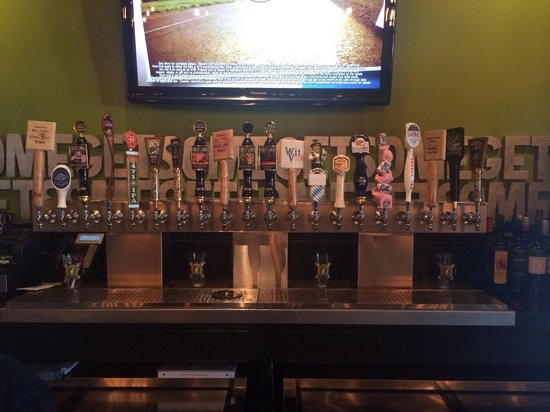 Pies & Pints: 20 taps local/import/American micro brew