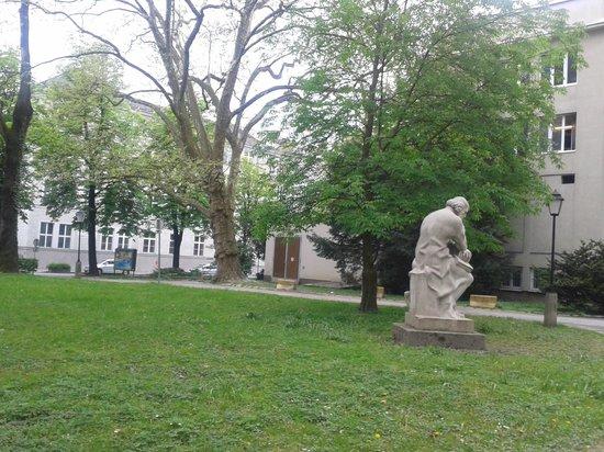 Sheraton Grand Salzburg: Sheraton Salzburg backyard