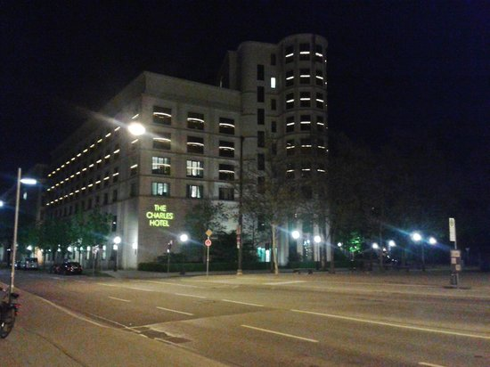The Charles Hotel at night