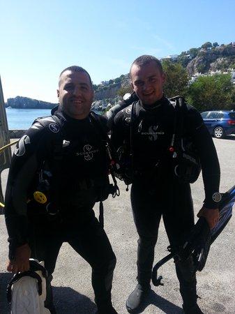 Simply Diving: El instructor Liam y yo