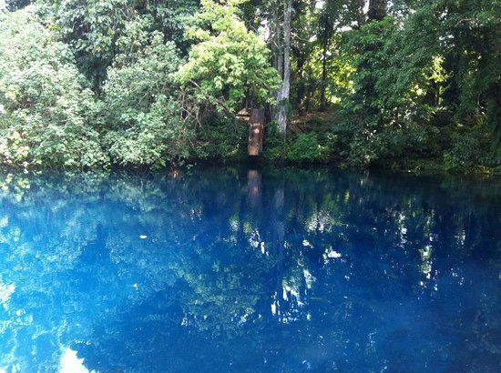 nanda blue hole - with slippery slide and swing too!