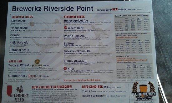 Brewerkz: menu