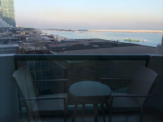 Hilton Dubai The Walk: The morning view from my balcony