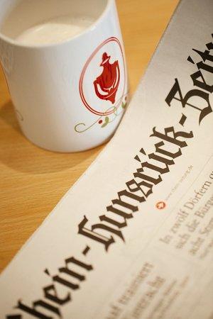 Mittelrhein Pension: Frühstückstisch