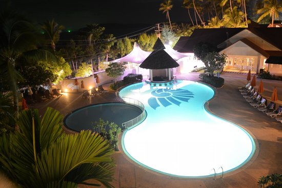 Aonang Villa Resort: View from balcony after dark