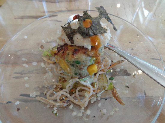 The Flagship: Spaghetti Bolognese with squid ink, sea snail and calamari