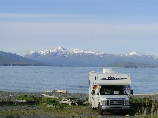 Homer Spit Campground: Our view feom our RV .