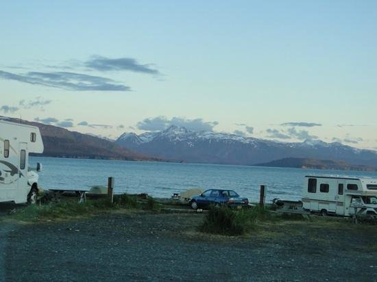 our view from our RV, Homer Spit Campground.