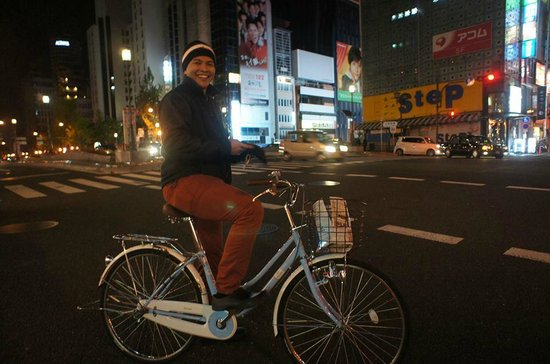 Dotonbori Hotel : My best friend with the 'free' hotel bicyle use..
