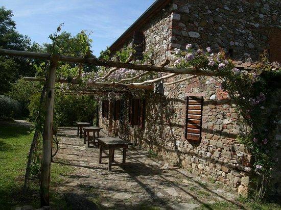 Terme di Sassetta : Restaurant outside