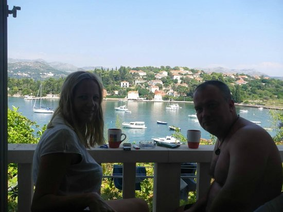 Kolocep Island : view from our balcony