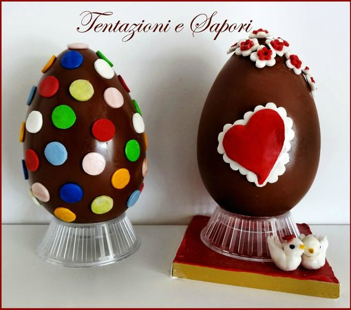 Uova di pasqua decorate a mano realizzate con i migliori cioccolati picture of tentazioni e - Uova di pasqua decorati a mano ...