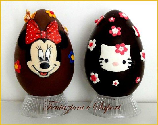 Uova di pasqua decorate a mano realizzate con i migliori cioccolati foto di tentazioni e - Uova di pasqua decorati a mano ...