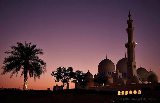 Mosquée Cheikh Zayed : Sunset at the Mosque