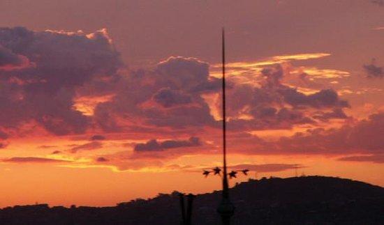 Au Jardin d'Antanimena : vue au coucher de soleil