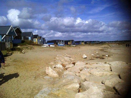 Hengistbury Head: Mudeford Spit beach