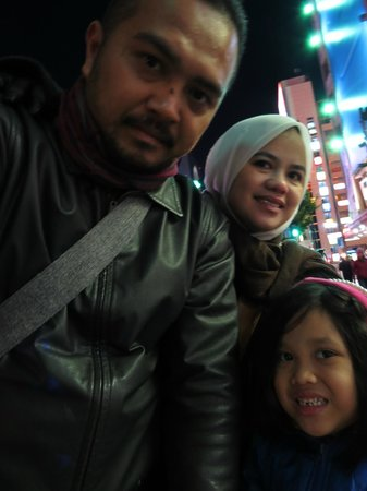 Business Hotel Ito: Me and my family infornt of the hotel before going shopping..
