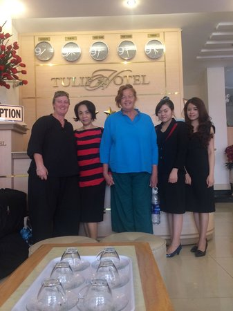 Friendly staff at Tulip Hotel