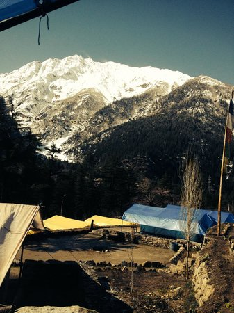 Kinner Camp Sangla: The View from our room