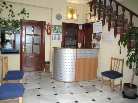 Hostal La Pilarica: recepcion