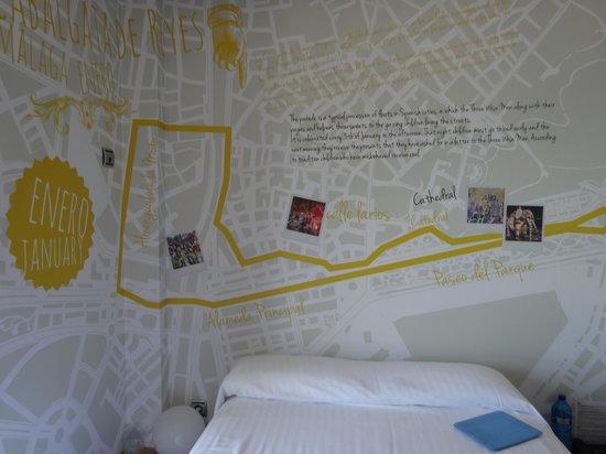 Hotel La Chancla: Zimmerwand
