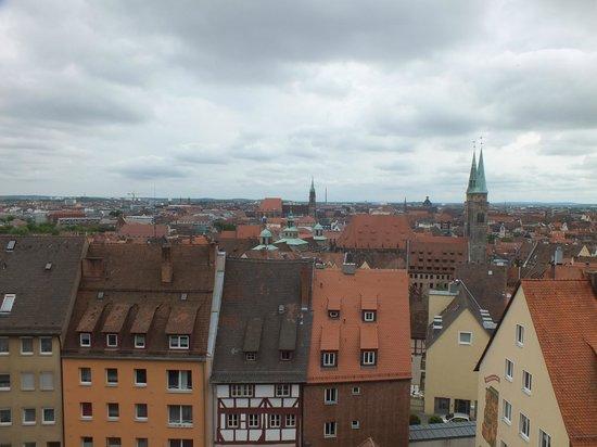 Kaiserburg Nürnberg: Вид на город
