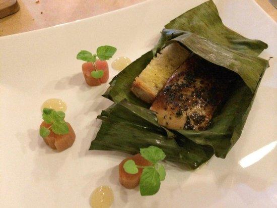 Olimpia: Foie, seared with truffle, salt rhubarb, tokaj jelly. Perfection.