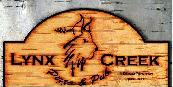 Lynx Creek Pub: lynx pizza logo