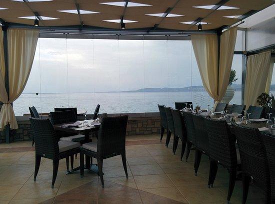 Kyma Beach Restaurant: Our view