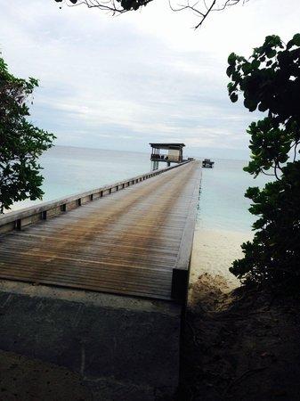 Park Hyatt Maldives Hadahaa: Bridge todeckfromour stay
