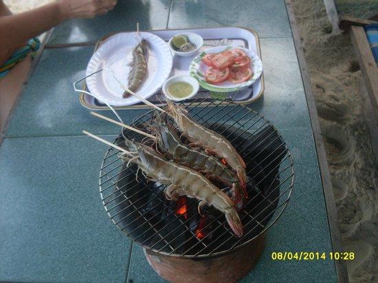 Golden Beach Nha Trang: И такие бывают креветки!!!!