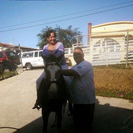 La Coca Falls: Having fin riding a horse .