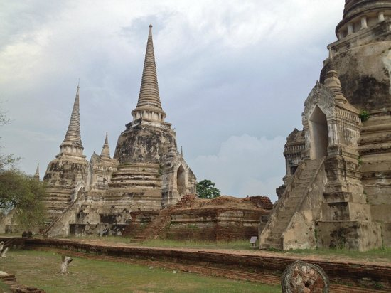 Parc historique d'Ayutthaya : view of all 3 center fortresses