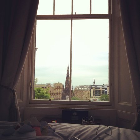 Fraser Suites Edinburgh: View from our bed!