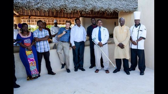 Swahili Beach Resort : Some of the Swahili Beach team who came to wish us well on our wedding day :-)