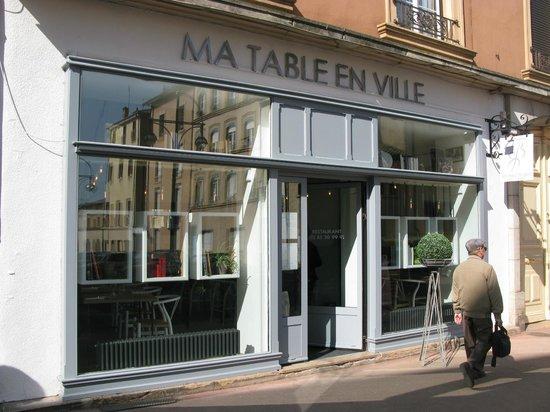 Ma Table en Ville : The front