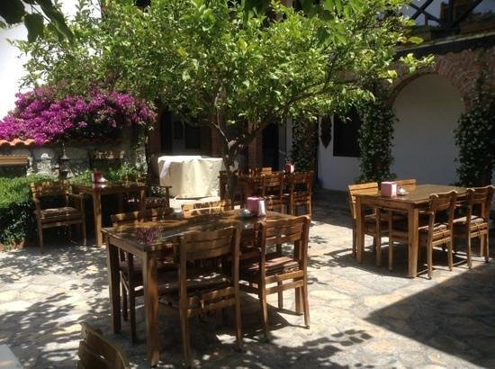Hotel Nilya : outdoor breakfast area