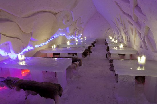 Ice Restaurant of Arctic Snowhotel