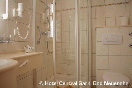 Hotel Central Garni: Badezimmer im Doppelzimmer Comfort Ahrseite