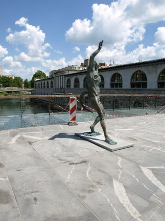 Butcher's Bridge: statue på broen