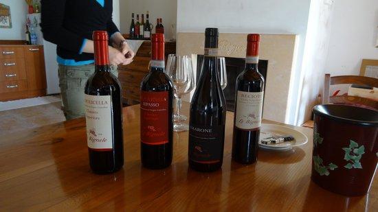 Veneto Italy and Wine: wines awaitng tasting 2