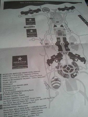 Iberostar Grand Hotel Paraiso: le plan de l'hôtel