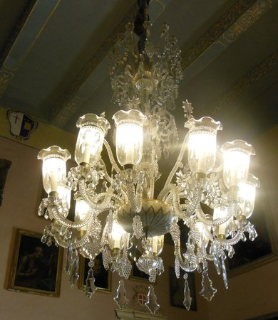Casa Rocca Piccola: a lovely chandelier