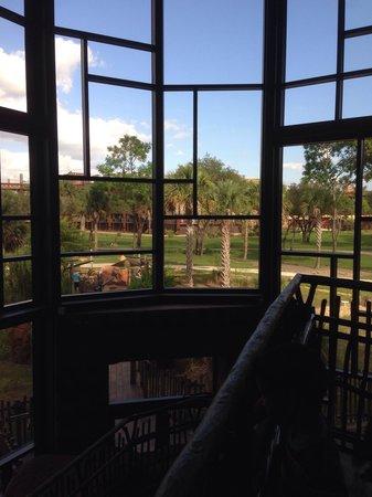 Disney's Animal Kingdom Villas - Kidani Village: Taken inside the lobby.