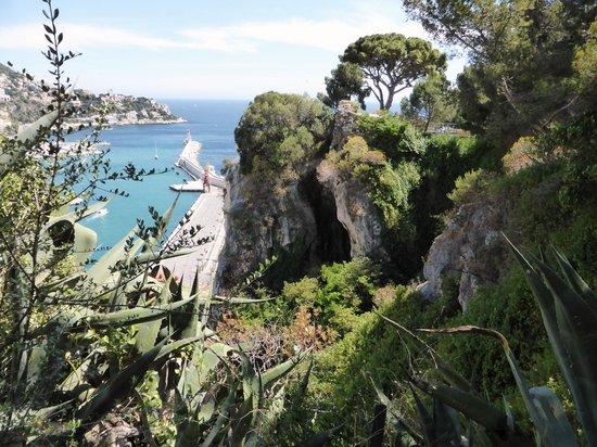 Colline du château : Vue sur le Vieux Port de NICE