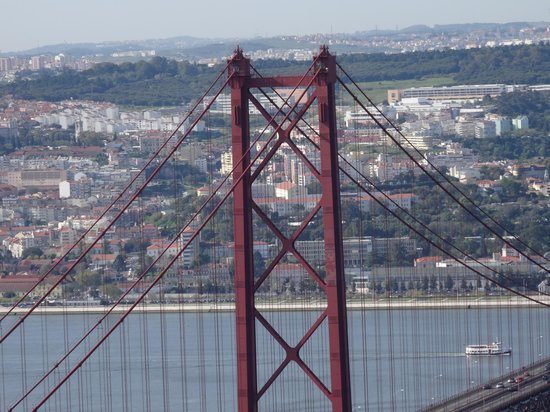 Vasco da Gama Bridge over River Tagus