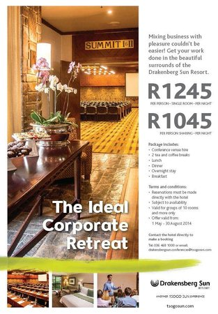 Drakensberg Sun Resort: Conference packages available