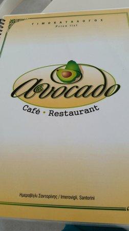 Avocado Restaurant: меню