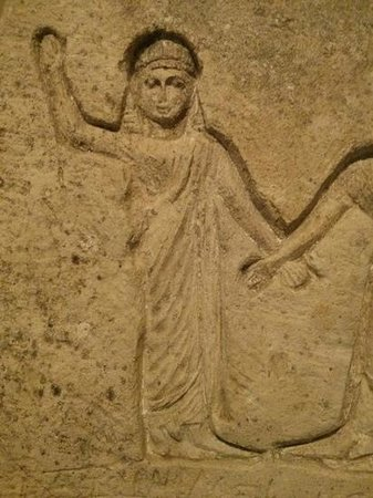 Byzantine & Christian Museum : Detail of a Coptic (Egyptian) funerary stele, 3rd–4th c. CE.
